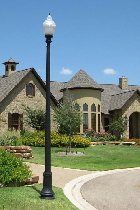 Whatley CF50 decorative fluted composite light pole