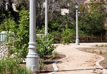 poles next to a walk path