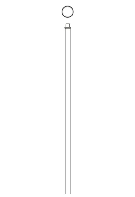 Round Striaght Pole Profile