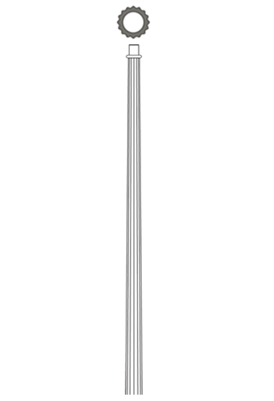 Fiberglass Light Post : Composite fluted cf tapered light poles from whatley