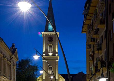 Metronomis, decoractive curved poles
