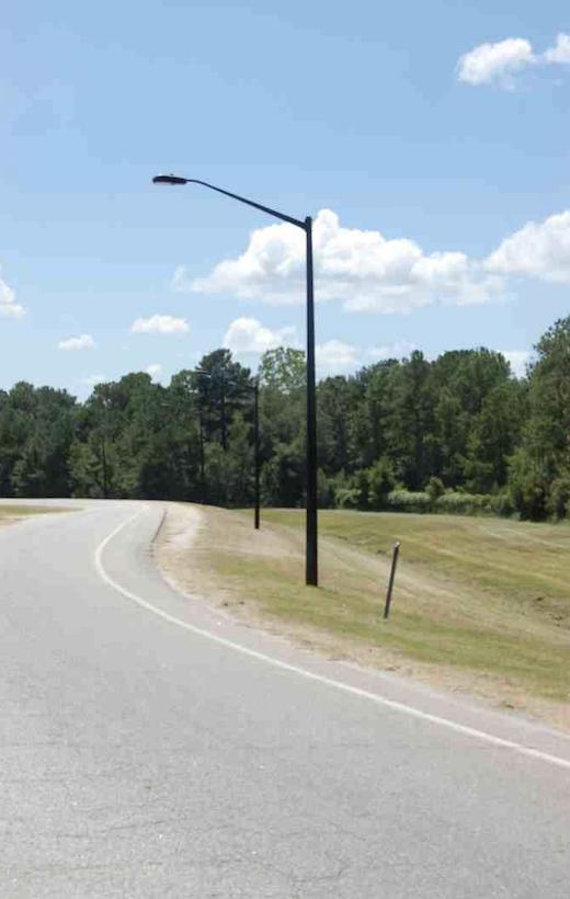 composite breakaway safety light pole