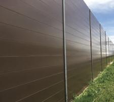 AcoustaShield12-inch high horizontal panel system