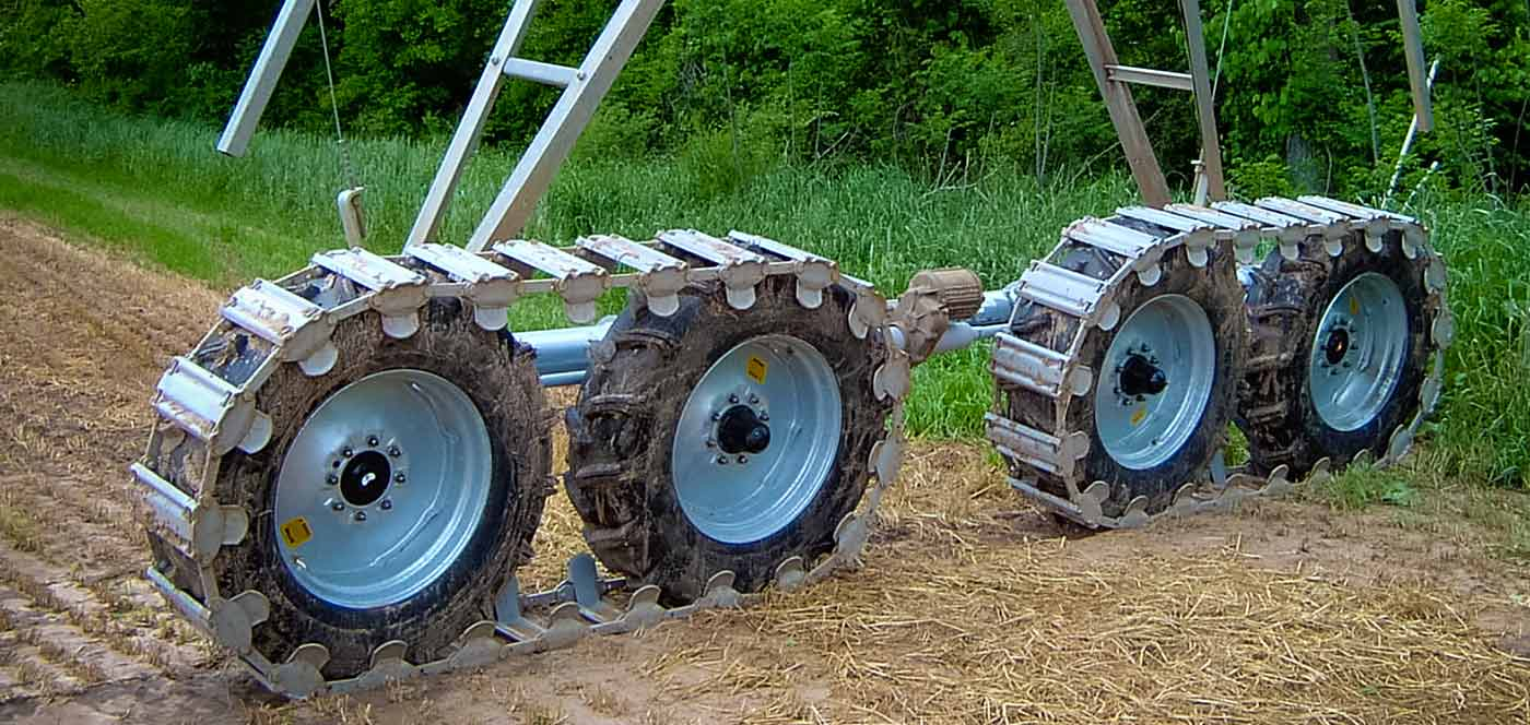 drive train conversion for center pivot irrigation systems
