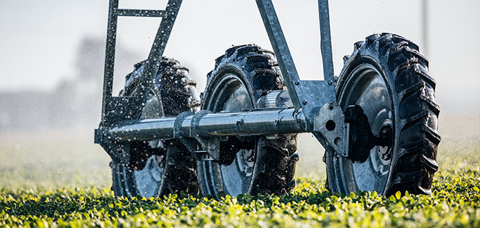 3-wheel drive flotation - irrigation tires - for center pivot irrigation systems
