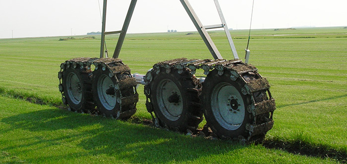 valley track drive - irrigation tires - center pivot irrigation