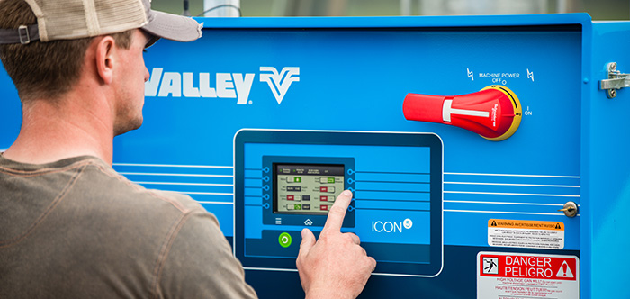 valley icon5 smart panel for center pivot irrigation