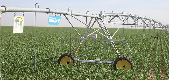oil hydraulic conversion for center pivot systems