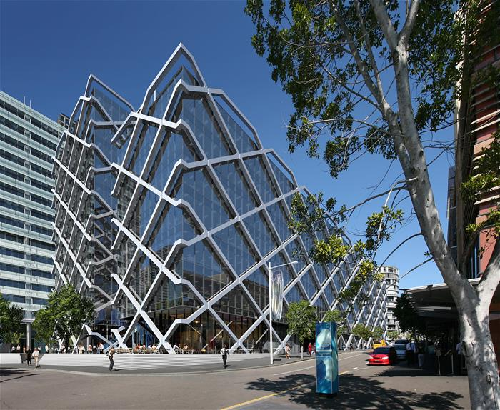 Galvanized Macquarie Building Sydney Australia