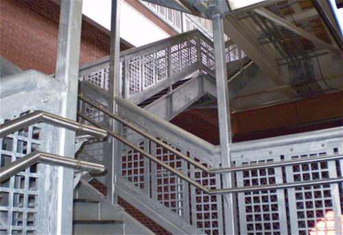 Galvanized Stairwell Chicago