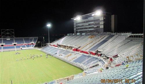 Galvanized Florida Atlantic University Football Stadium
