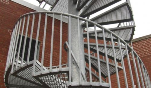 Galvanized Staircase Kansas