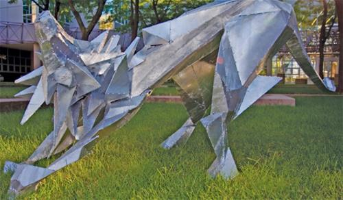 Galvanized Sculpture Iowa