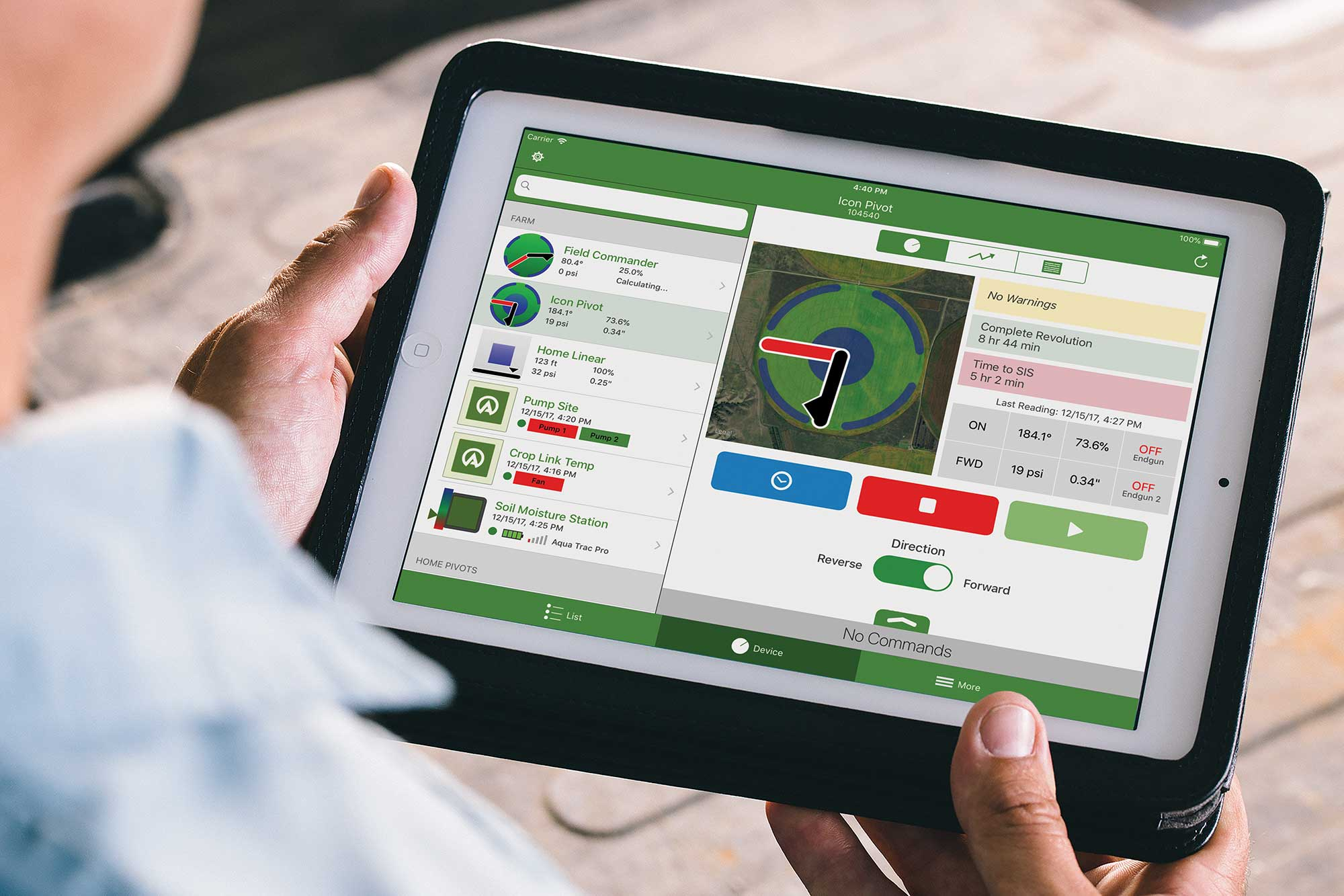 agsense app on tablet